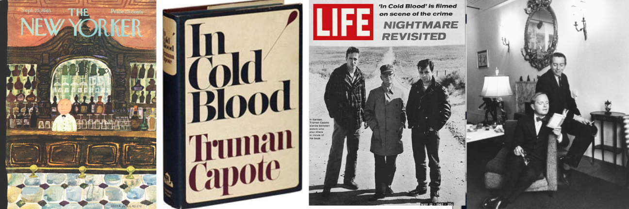 capote in cold blood essays In cold blood, written by truman capote, is a book that encloses the true story of a family, the clutters, whose lives were brutally ended by the barrel of a 12-gauge shotgun.